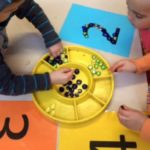 Numbers Play Experience focuses on Counting peices, identifying numbers, knowlage of numerical order, while also working on children fine motor skill development. This activity connects to the EYLF Learning Outcome 4: Children are confident and involved learners.