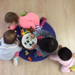 Puzzle block play promotes problem solving skills that help children to identify colours and shapes while encouragong social skills and behaviours. This activity connects to the EYLF Learning Outcome 3: Children have a strong sense of wellbeing.