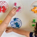 Colour Matching Play promotes development of problem solving skills, to further recognise words and symbols and social behaviours such as teamwork. This activity connects to the EYLF Learning Outcome 4: Children are confident and involved learners.