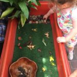 Exploring Natural Materials and learning about insects in our outdoor insect corner while growing apprisiation and respect for the enviroment. This experience connects to the EYLF Learning Outcome 2: Children are connected with and contribute to their world