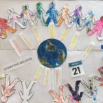 """For Harmony Day Children contributed in making their own unique people for, """"everyone belongs"""" helping children to further understand equality, respect and diversity. this experience connects to the EYLF Learning Outcome 2: Children are connected with and contribute to their world."""