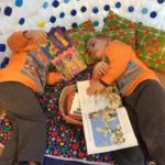 Children having quite reading time in our Milk bottle igloo. For further infomation about JELC enviromentally sustainable projects, visit our 'EVENTS' page. EYLF Learning Outcome 5: Children are effective communicators.