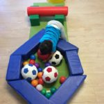 Ball/ physical play Focuses on learning colours, shapes and physical development such as fine and gross motor skills and hand eye coordination. This experience connects to the EYLF Learning Outcome 3: Children have a strong sense of wellbeing